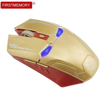 Wireless Silent Optical Mouse Marvel Avenger Iron Man Mause 6 Buttons 1600 DPI Ergonomic Gaming Computer Mice For Laptop Desktop