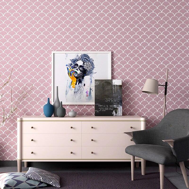pink white bathroom kitchen tile fish scale fan shaped mosaic stylish tile room decor