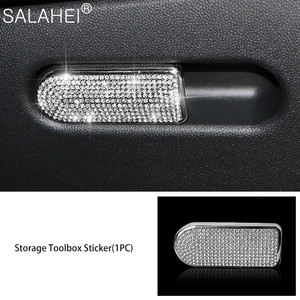 Image 5 - גביש יהלום רכב מולטימדיה ידית קישוט כיסוי Fit עבור מיני F55 F56 F60 קופר CLUBMAN COUNTRYMAN רכב אביזרי פנים