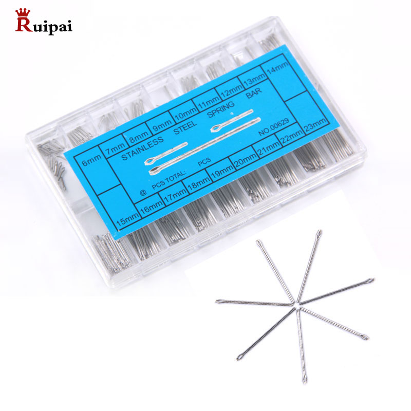 RUIPAI 360Pcs 6-23mm  Watch Slip Pin  Spring Bars Strap Link Pins  Watch Strap Fixed Axis Surface Shaft Tool