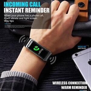 Image 3 - Smartwatch y3 plus com bluetooth, pulseira fitness rastreadora de saúde, fone de ouvido música