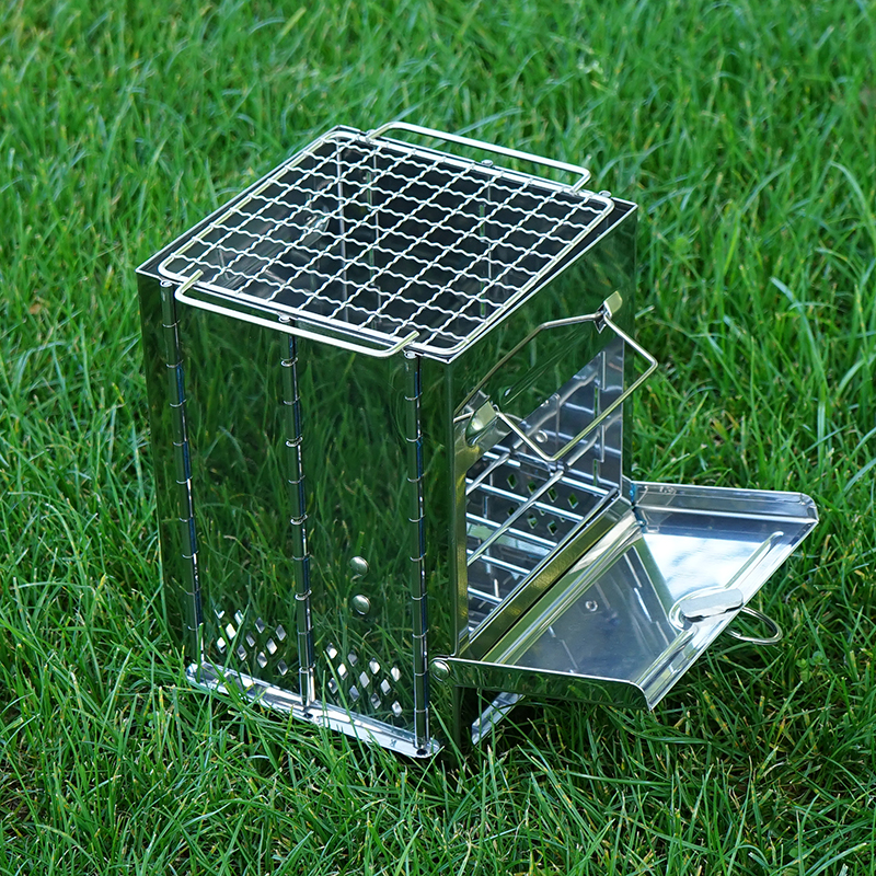 Mini Wood Stove Burning  Fold Portable Stove Fire Pits Chef Stoves Mini-stove Camping Bbq Working Outdoor Fishing Warm Heating