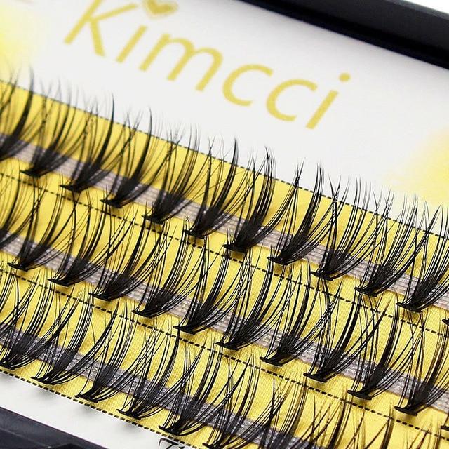 Kimcci 20D Natural Long Individual Eyelash Extension Cluster Faux Eyelashes 60 Bundles/box Professional Makeup Mink Flare Lashes 3