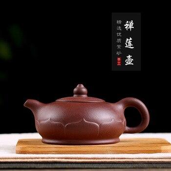 Große Größe Half-handmade Yixing Ton Teekanne eine Generation von Lieferung Kreuz Grenze Lieferung von Waren Lila Ton Topf zen Lotus Topf