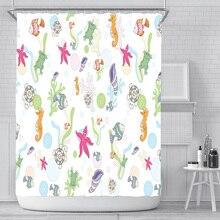 Mildew-proof curtain bathtub waterproof fish print shower curtain for bathroom shower curtain 180 * 180CM halloween cat print waterproof shower curtain