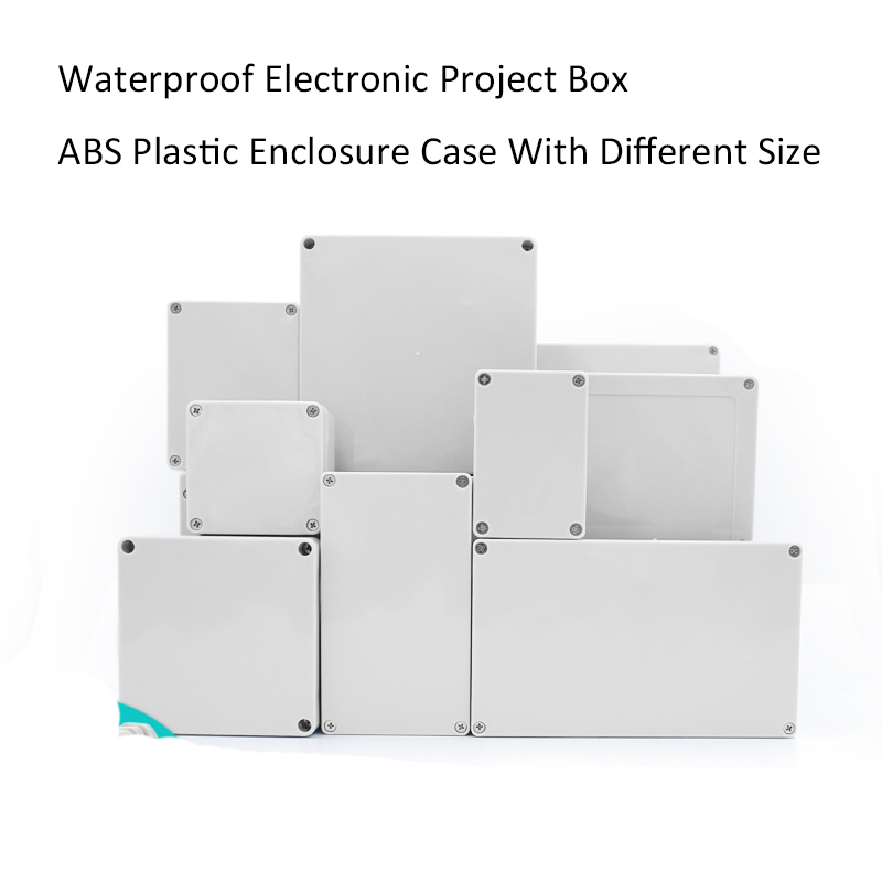 NOVFIX Waterproof Electronic Project Box ABS Plastic Enclosure Case Junction Box With Different Size