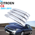 Роскошный Хром Внешний дверные ручки крышки Накладка комплект для Citroen C6 2005 ~ 2012 аксессуары наклейки для автомобиля 2011 2010 2009 2008 2007 2006