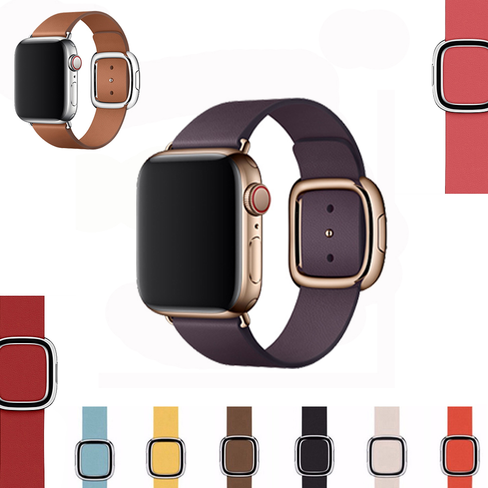 Genuine Leather Strap For Apple Watch Band 4 (iwatch 5) 44mm 40mm Applewatch 3 2 1 Strap 42mm 38mm Pulseira Watchbands