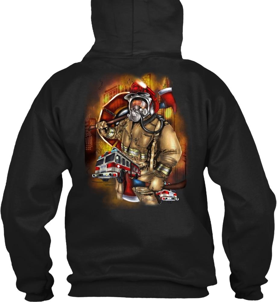 FIREFIGHTER SUPERHERO ARTWORK HOODIE! Streetwear Men Women Hoodies Sweatshirts