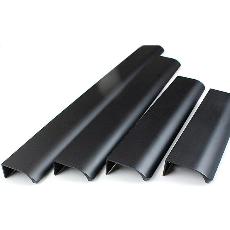 Золотой черный скрытый для ящика тянет алюминиевого сплава ручки для кухонных шкафов ящика ручки для мебели ручки спальни оборудования Ручки шкафа      АлиЭкспресс