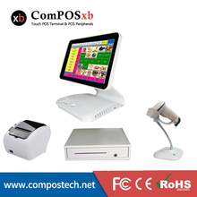 цена на The Latest Model Point os Sale system 15.6 Inch Capacitive Touch Screen All In One Pos PC