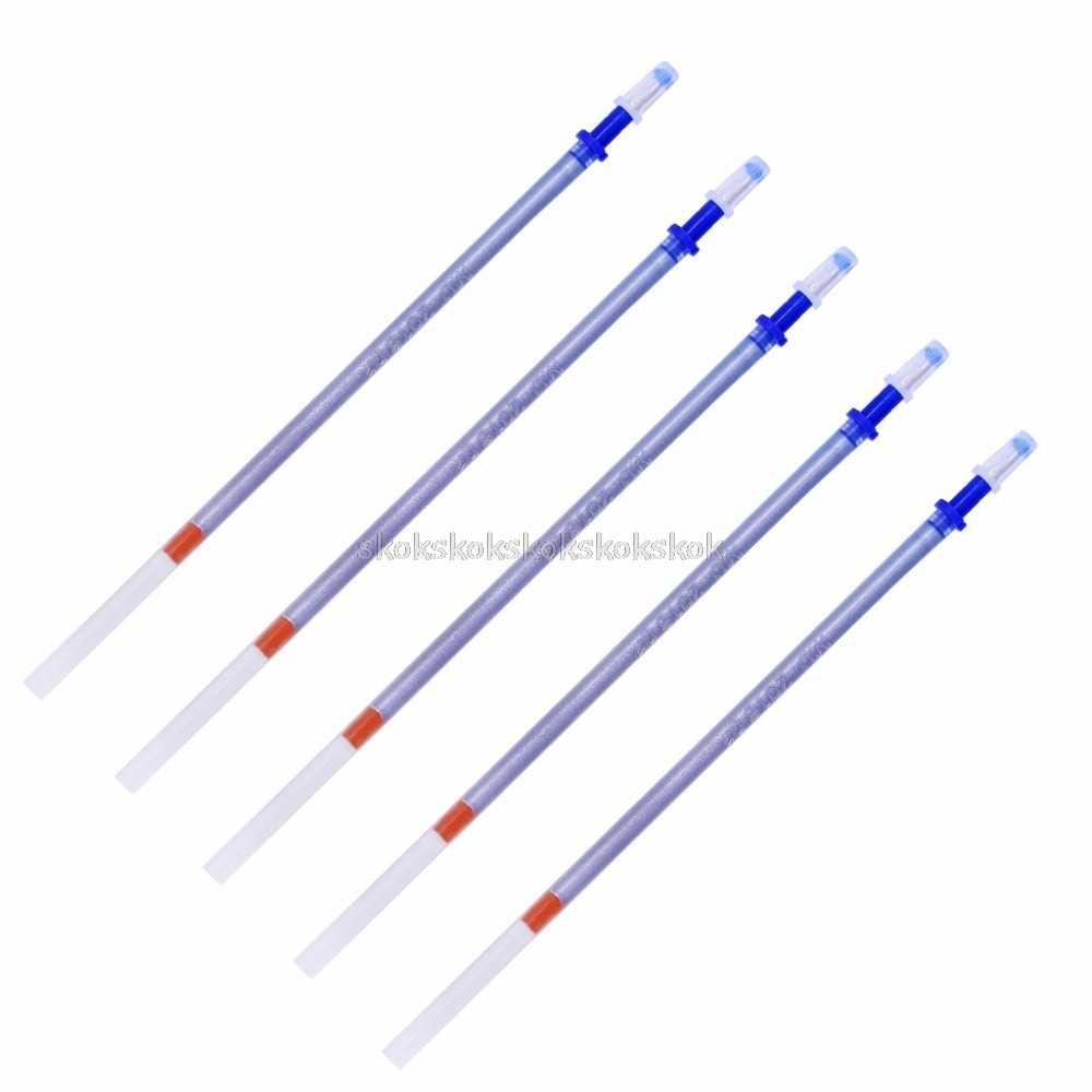 5 pièces argent effaçable à l'eau Soluble stylo recharge pour tissu cuir marqueur marquage tailleur couture outils artisanat Au13 19 Droship