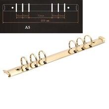 1pc A5 Metal Spiral Binder 6 Rings Notebook Folder Clips Metal Ring Binder