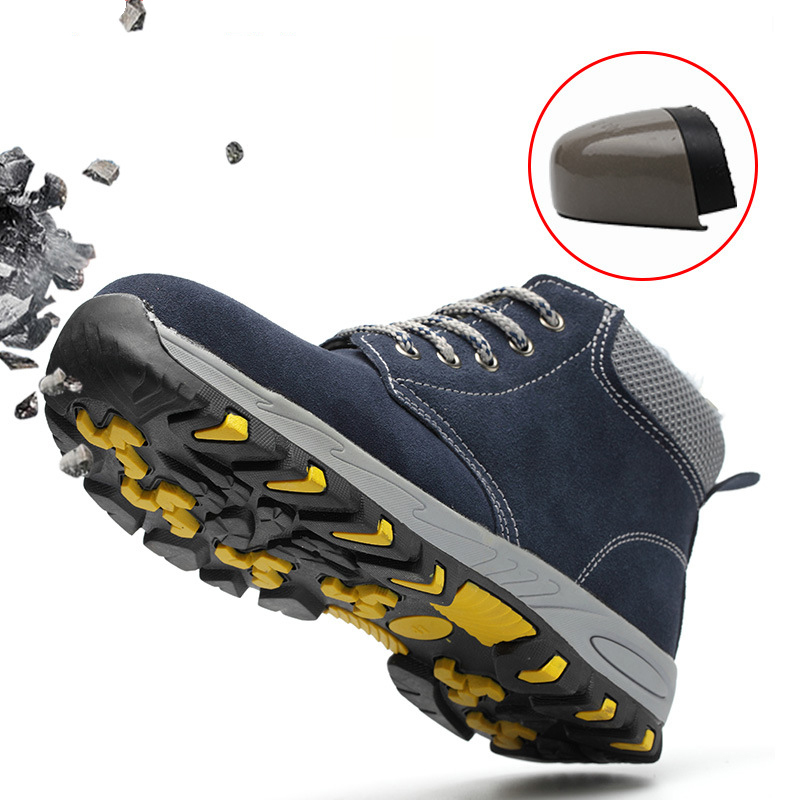 High Steel Toe Safety Work Shoes Men Fashion Breathable Slip Casual Boots Mens Labor Insurance Puncture Men Safety Shoes