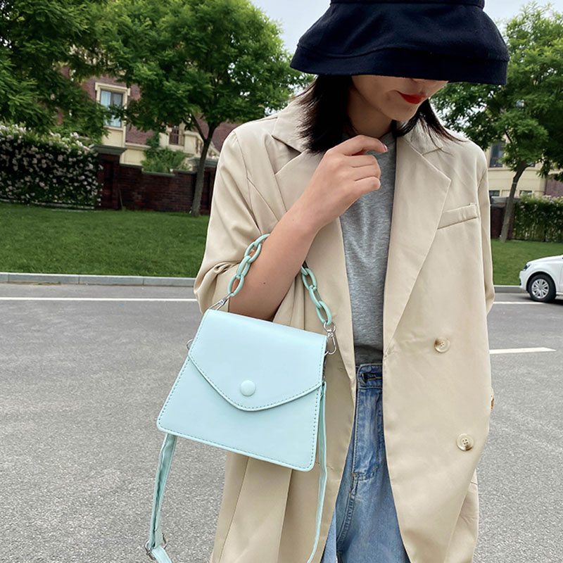 Thick Chain Design Small PU Leather Crossbody Bags For Women 2020 Female Shoulder Messenger Bag Ladies Handbags KYIDER