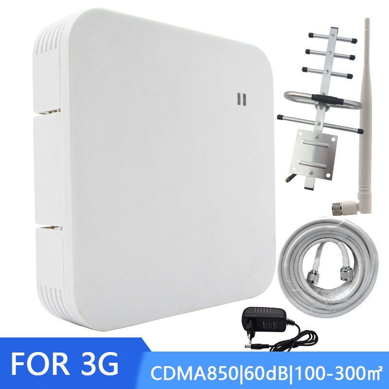 NEW CDMA <font><b>850MHZ</b></font> Repeater Repeater <font><b>850Mhz</b></font> 2G 3G Booster Mobile phone Signal Amplifier Band 5 Yagi+Whip Antenna Coaxial Cable * image