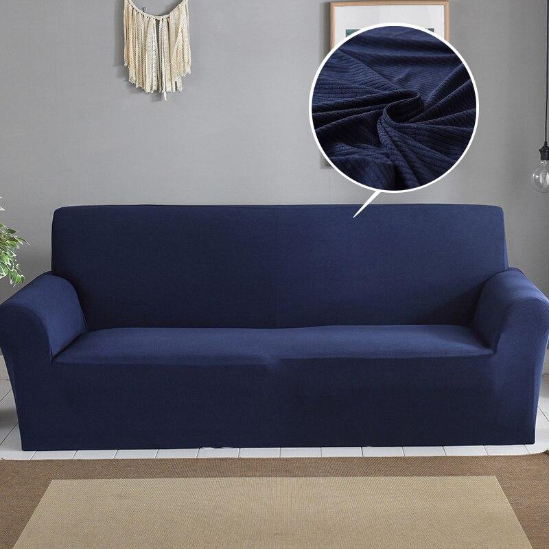 navy blue corduroy sofa cover thick