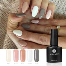 MSHARE Gel Nail Polish Nudo Rosa Bianco UV Del Chiodo Del Gel Per Unghie(China)
