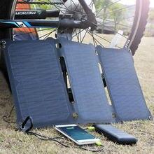 ALLPOWERS Panel Solar cargador Dual USB 21W Cargador Solar para iPhone Samsung Huwei Xiaomi Sony OPPO Vivo OnePlus LG Goolge etc