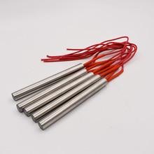 شحن مجاني 12 مللي متر مواسير الصلب غير القابل للصدأ الفولاذ قطرها سخان خرطوشة 40 200 مللي متر طول 220 فولت عنصر التدفئة الكهربائية أنبوب سخان