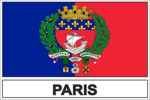 สติกเกอร์ธงปารีสสำหรับรถจักรยานยนต์แล็ปท็อปรถ RV SUV สติ๊กเกอร์ติดผนัง