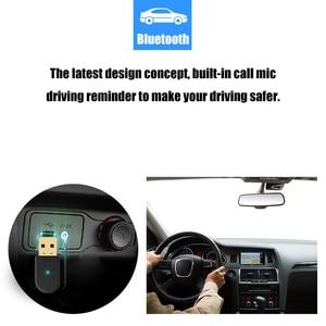 Image 5 - 2 in 1 Bluetooth 5.0 alıcı/verici kablosuz Bluetooth adaptörü USB 3.5mm AUX çağrı mikrofon PC automobile için ses hoparlör