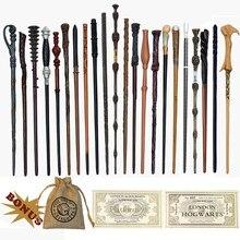 27 tipos de metal núcleo varinhas mágicas dumbledore ron voldmort hermione varinha mágica harried bilhetes e saco como presente nenhuma caixa
