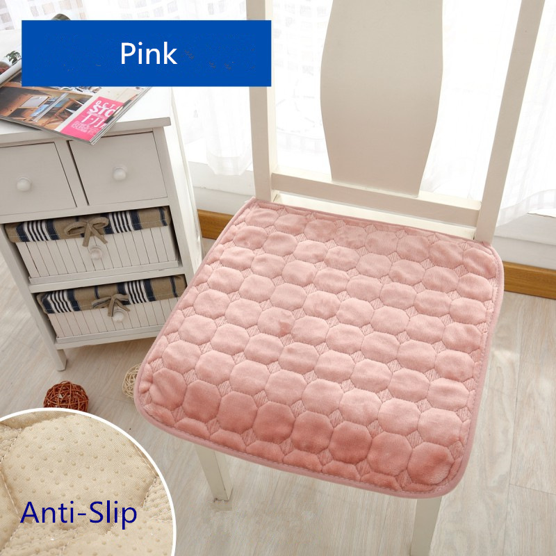 Spring Autumn Thin Brushed Chair Cushion Seat Mat 1pcs 40*40cm Chair Cushions Sofa Pad Rectangle Non-slip Home Cushion Mat