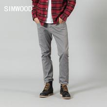 سيموود 2019 الخريف سراويل تقليدية الرجال عادية موضة عالية الجودة الملمس بنطلون ماركة الملابس SI980604