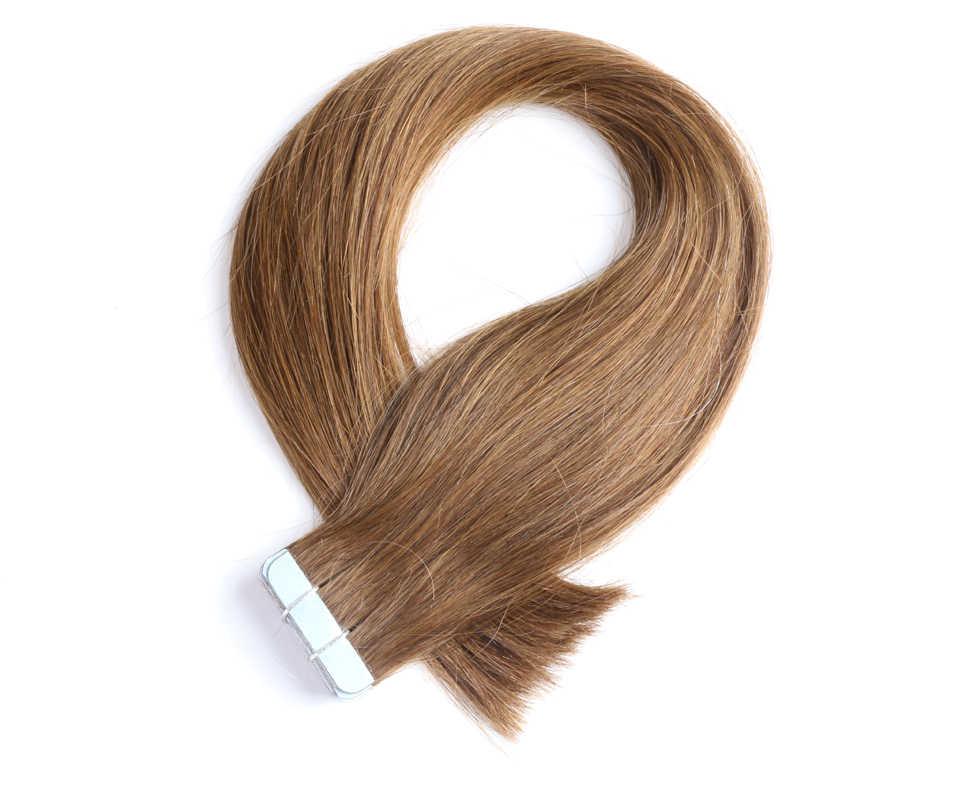 QHP Человеческие волосы Remy для наращивания, Пряди человеческих волос для наращивания 2,5 г/подставка 20 шт./упак. пряди волос на ленте, волосы на Клейкой Ленте имитирующей кожу 50 г