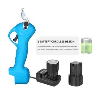 Image 5 - Профессиональные беспроводные электрические секаторы 16 В с перезаряжаемой литиевой батареей 2 Ач, секатор для веток дерева, садовые ножницы