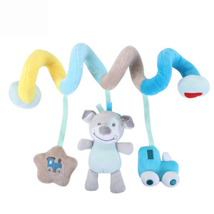 Weiche Baby Spielzeug 0-12 Monate Musik Krippe Kinderwagen Hängen Spirale Kinder Sinnes Pädagogisches Spielzeug Für Neugeborene Baby Rasseln bett Glocke
