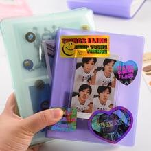 Cute Mini Holds 64 Photos Instax Album Jelly Color Photo Album for Mini Fuji Instax & Name Card 7s 8 25 50s Mini Photo Album