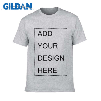 GILDAN Brand Customized Mens T Shirt Print Your Own Design High Quality Breathable Cotton T-Shirt For Men Plus Size XS-3XL