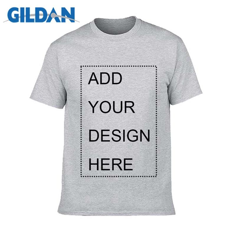 Gildan marca personalizado camisa masculina t imprimir seu próprio design de alta qualidade respirável algodão camiseta para homem mais tamanho XS-3XL