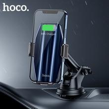 HOCO شاحن سيارة لاسلكي Qi ، حامل هاتف خلوي ، حامل شبكة تهوية ، سطح زجاجي ، شاحن سريع 15 واط ، لهاتف iPhone12