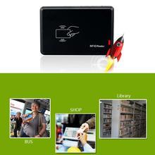 USB RFID считыватель смарт-карт портативный бесконтактный датчик приближения FKU66 считыватель банковских карт чип-считыватель карт