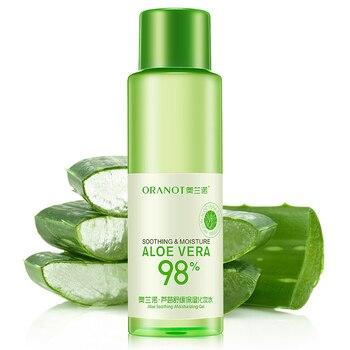 Crema facial y corporal de Aloe Vera, extracto Natural líquido calmante, humectante...