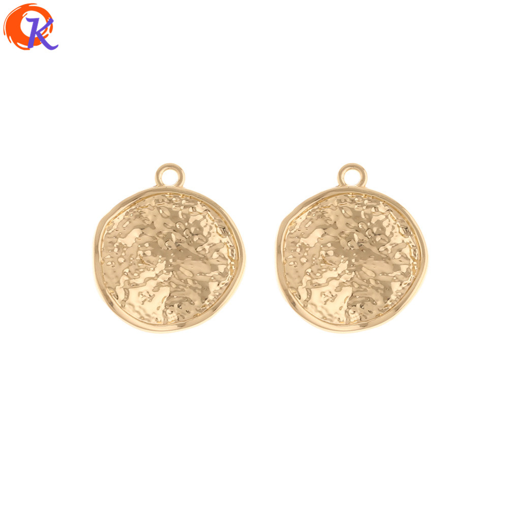 Cordial Design 100Pcs 20*23MM Earrings Charms/Jewelry Accessories/Coin Shape/Hand Made/Earring Findings/Pendant/DIY Accessories