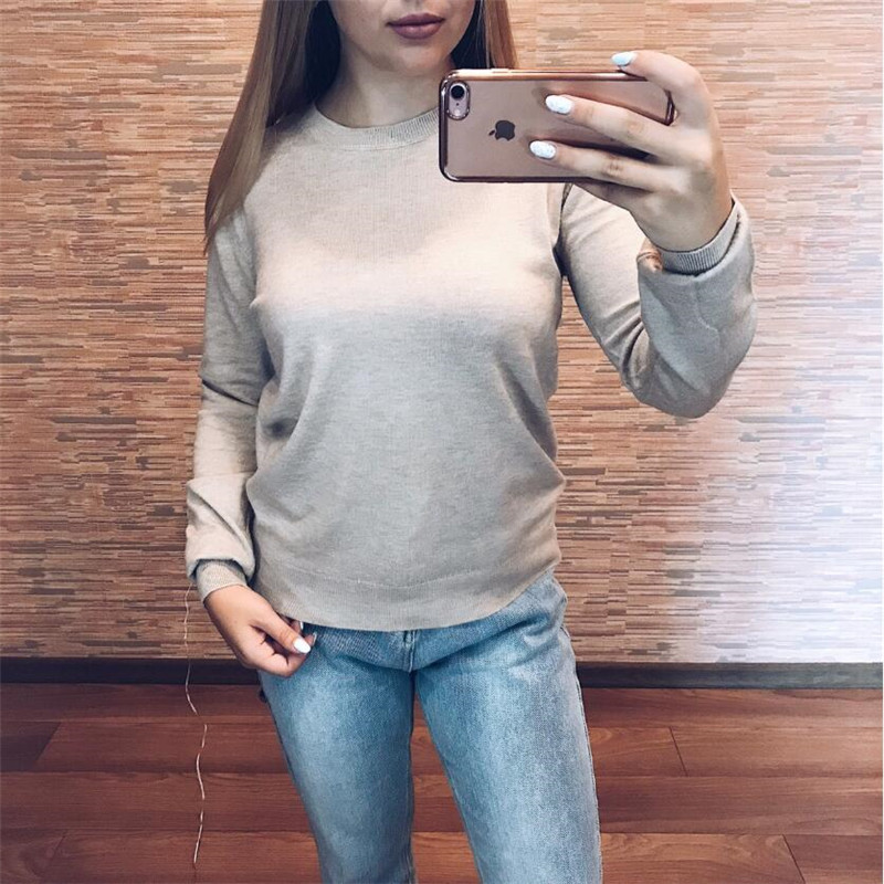 GCAROL 19 Fall Winter Candy Knit Jumper Women 30% Wool Sweater Soft Stretch OL Render Knit Pullover Knitwear S-3XL 18