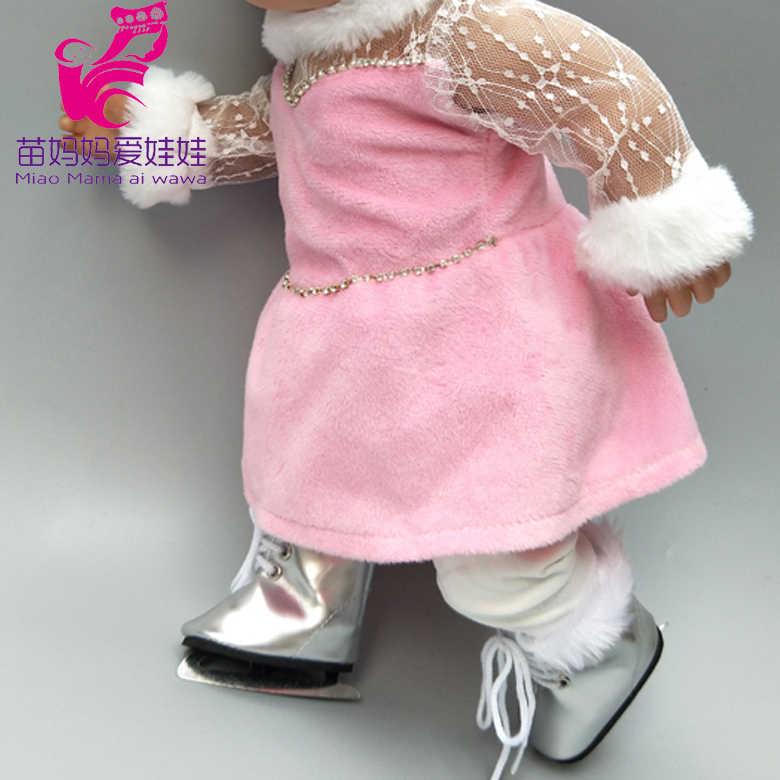 17 אינץ חדש נולד תינוק בובת בגדי ג 'ינס אפוד לבן חולצה חצאית עבור 18 אינץ בובת מעיל חולצה קצר שמלה סט