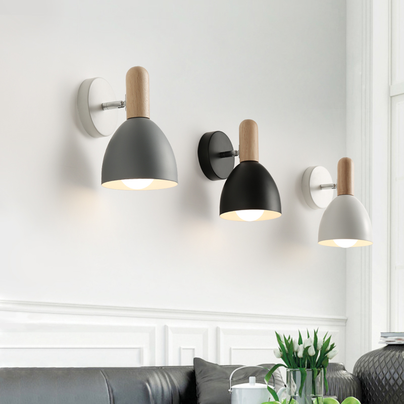 <font><b>Nordic</b></font> Bedroom Simple Modern Creative Living Room Corridor Balcony Stairway Bedside <font><b>Lamp</b></font> Bathroom Mirror Front <font><b>Wall</b></font> <font><b>Lamp</b></font> image