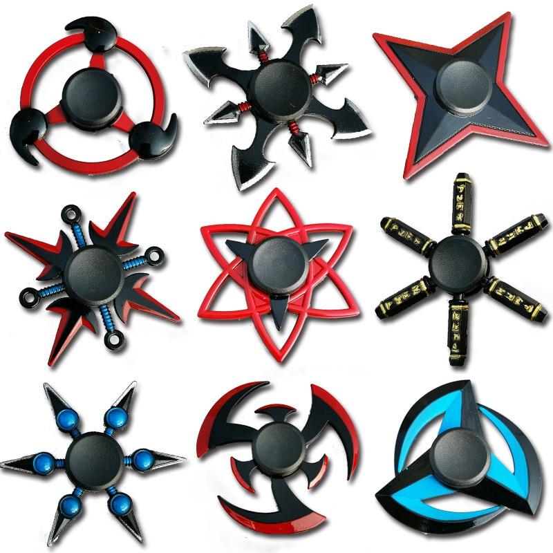 Creative Fidget Spinner Tri Spinner Zinc Alloy NARUTO Ninja Shuriken Sharingan Hand Spinner Finger Stress Reliever Toys For Kids