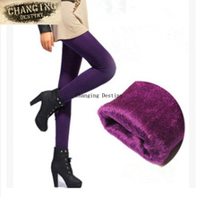 Winter Womens Trousers Warm Breathable Pants Female Fashion Elastic Plus Velvet Thick Pearl Cashmere