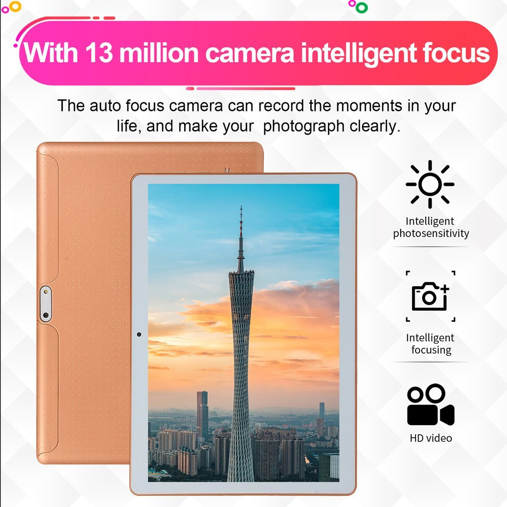 2019 10 pouces tablette PC 3G 4G LTE Android 8.1 10 Core métal tablettes 8GB RAM 128GB ROM WiFi GPS 10.1 tablette IPS WPS CP9 - 5