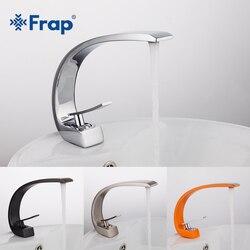Frap новый кран для ванной комнаты, латунный хромированный кран, щетка для никеля, смеситель для раковины, кран для горячей и холодной воды, см...