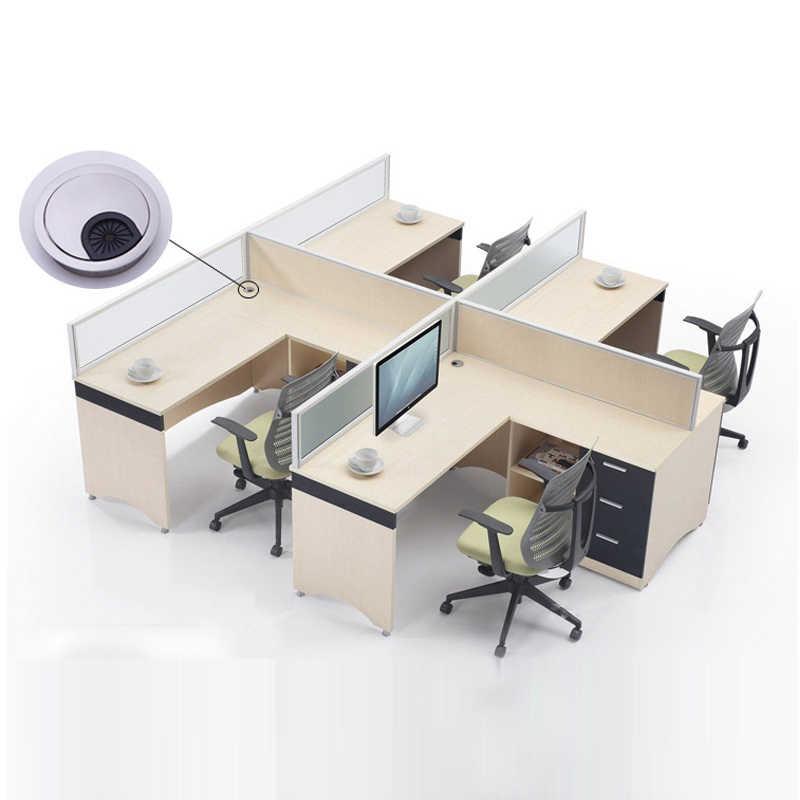 1 szt. Pokrywy otworów kablowych okrągłe biurko komputerowe przepust kablowy pokrywy otworów sprzęt meblowy port wyjściowy linia powierzchniowa sortuj narzędzie