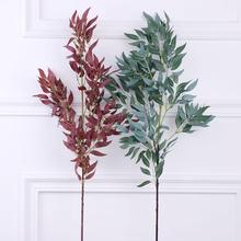 1Pc Artificial Willow Plant Home Garden Wedding Decor Stage Performance Prop Vivid Color Party Beautiful