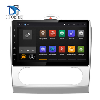 Android 9.0 Full Touch 10.1'' LCD Car Radio Stereo For FORD FOCUS /MONDEO/S-MAX/CONNECT 2005-2007 AUTO A/C Video Player Wifi DAB image