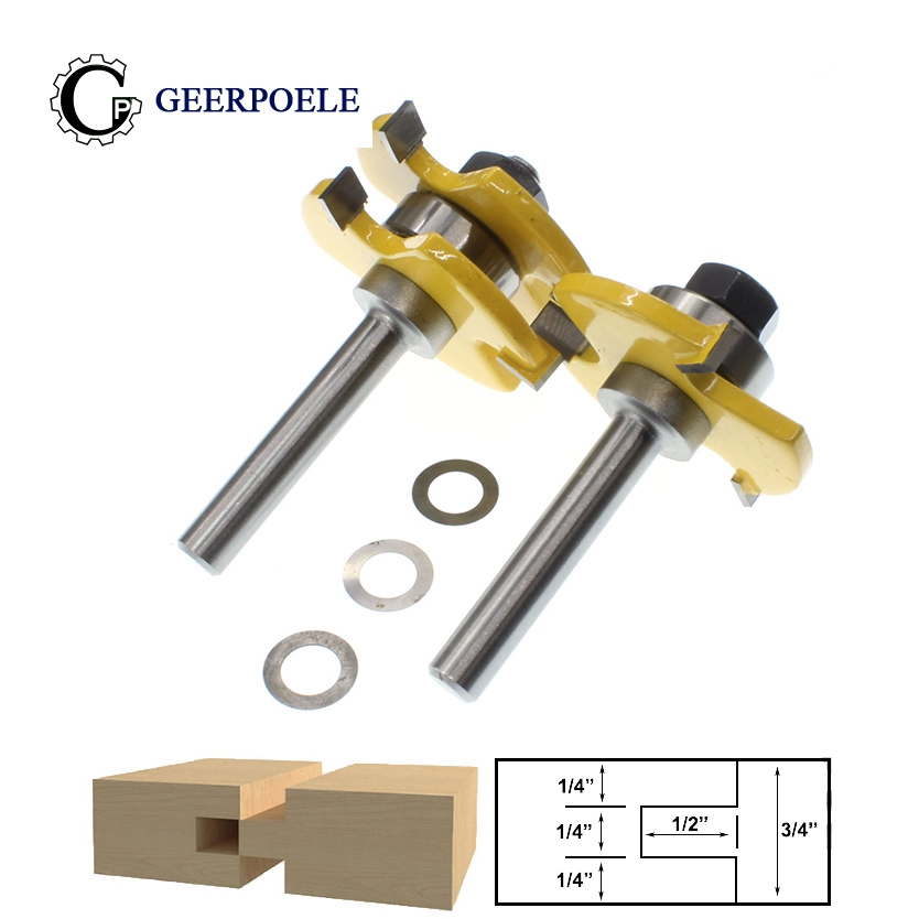 8mm Tongue & Groove Herramientas De Mano Woodworking Tools Fresa Para Router Madera Router Wood Coltello T-Slot Milling Cutter